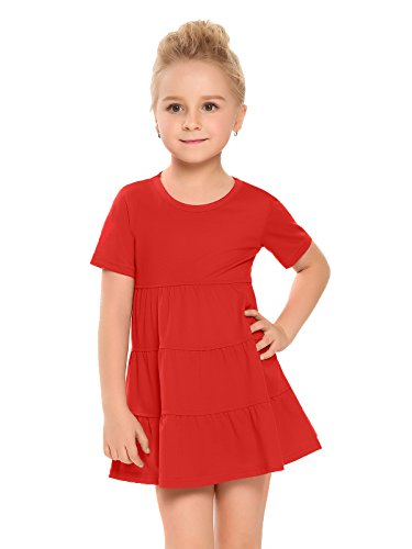 Red Tiered Dress - 4