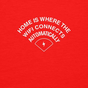 TEXLAB - Home is where the WIFI connects automatically - Herren Kapuzenpullover Rot