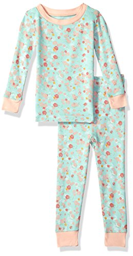 Burt's Bees Baby Baby Infant Organic 2 Piece Pajama Set, Blue Sky Ditsy Floral, 18 Months