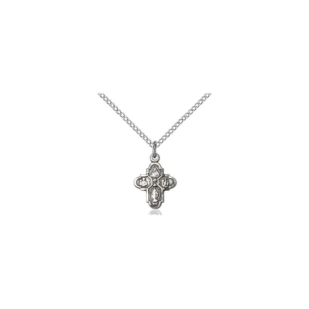 DiamondJewelryNY Sterling Silver 4-Way//Chalice Pendant
