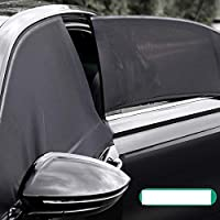 Car Sun Shade Side Window Windshield Cover UV Protect perspective mesh Velcro Universal car accessories Windows Curtain…