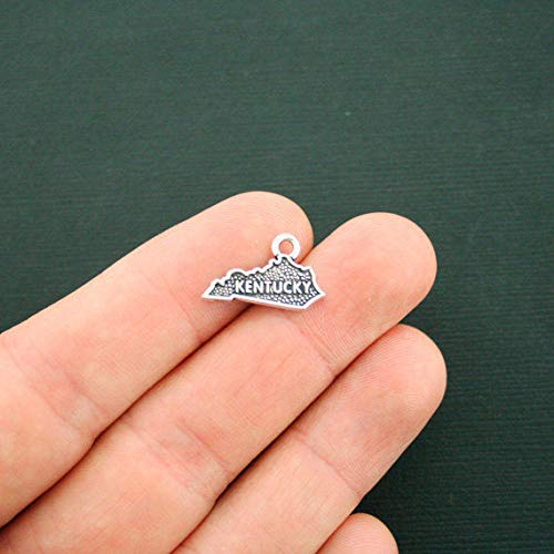 Extensive Collection of Charm 4 Kentucky State Charms Antique Silver Tone 2 Sided - SC6338 Express Yourself