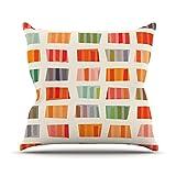 KESS InHouse margarita Beatrice 'toalla de playa' Multicolor cojín decorativo, 50,8 cm por 50,8 cm