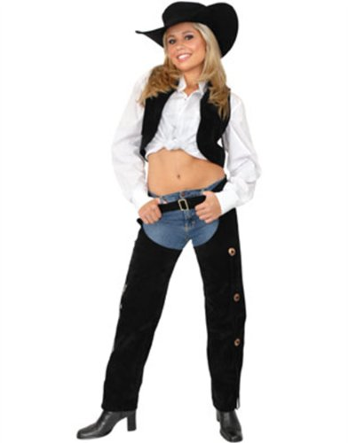 Suede Chaps And Vest Costume