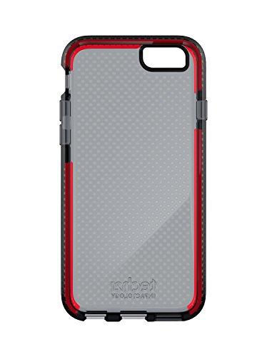 Tech21 Evo Mesh Schutzhülle Case Widerstandsfähig Schlagfest mit FlexShock Aufprallschutz für iPhone 6/6S - Rauchig/Rot