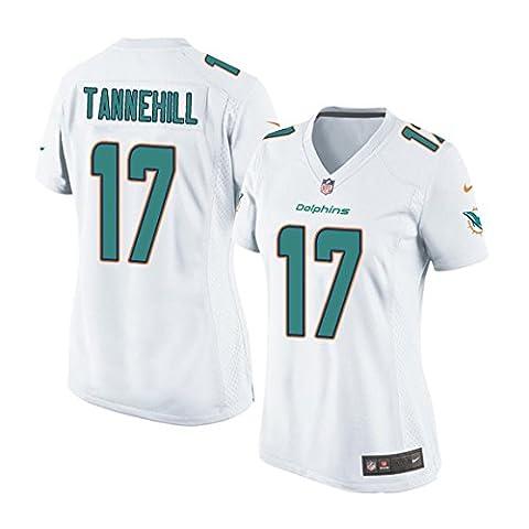 Miami Dolphins Ryan Tannehill Women's Ladies XL Nike White Game Jersey - Miami Dolphins Throwback Jersey