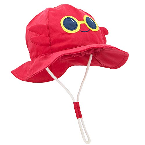 Durio Baby Hat Sun Protection Baby Boy Hats Gifts for Baby Summer Bucket Hat Cute Toddler Sun Hat Girl Boy UPF 50+ Animal Caps Kids B Crab 18.9