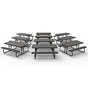 Lifetime 860112 - Mesa de picnic plegable, color marrón