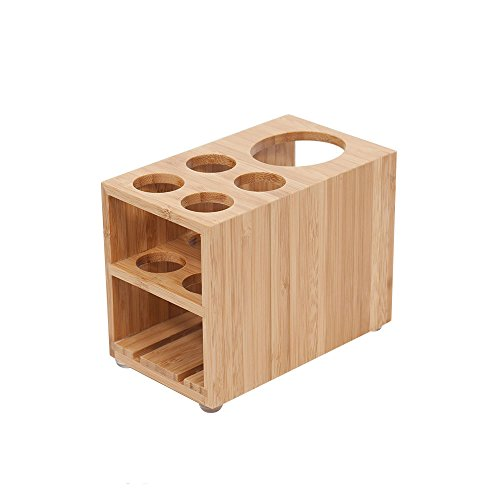 MobileVision Toothbrush and Toothpaste Holder Stand for Bathroom Vanity Storage, Bamboo, 5 Slots by MobileVision (Image #7)