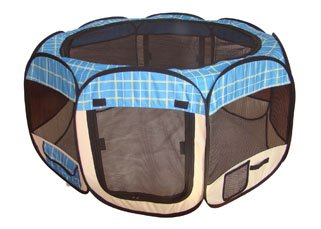 BestPet Folding Play Pen – Blue – Medium For Sale
