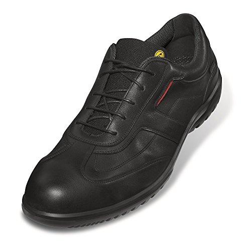 """Uvex Zapatos bajos mocasines de seguridad """"informal negocios"""" 9510 S1, Suela: PUR-Duo, negro/rojo, varios, Talla - 45"""