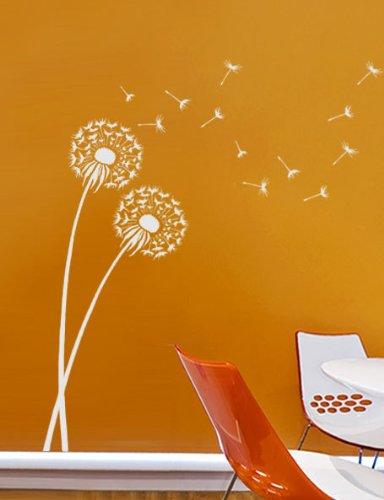 (Stencil Dandelion size MED - Reusable wall stencils better than decals)
