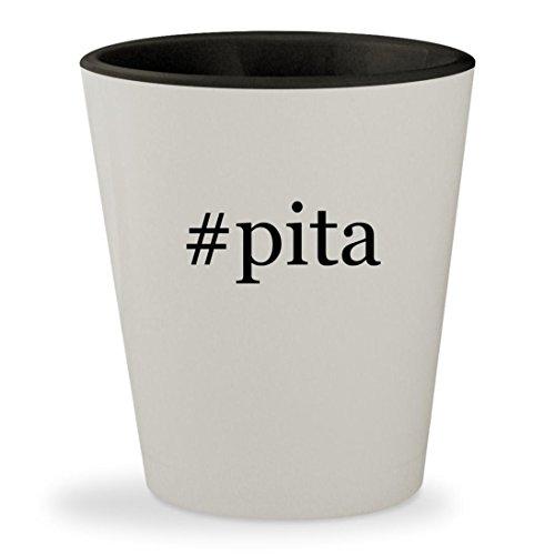 Price comparison product image #pita - Hashtag White Outer & Black Inner Ceramic 1.5oz Shot Glass