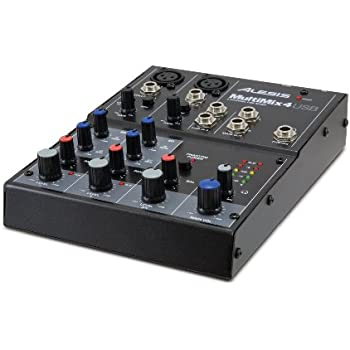 alesis 4 channel mixer with usb interface musical instruments. Black Bedroom Furniture Sets. Home Design Ideas