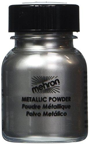 Mehron Metallic Powder Silver 0.5 (Face Painting Halloween Women)