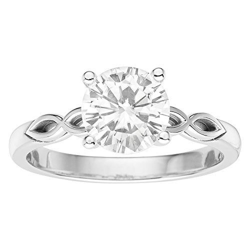 Forever Brilliant Round Cut 7.5mm Moissanite Engagement Ring-size 9,1.50ct DEW By Charles & Colvard by Charles & Colvard