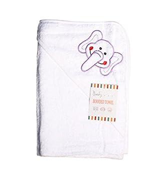 Textiles Direct Suave para Bebé con Capucha Toalla con Bordado de Elefante: Amazon.es: Hogar