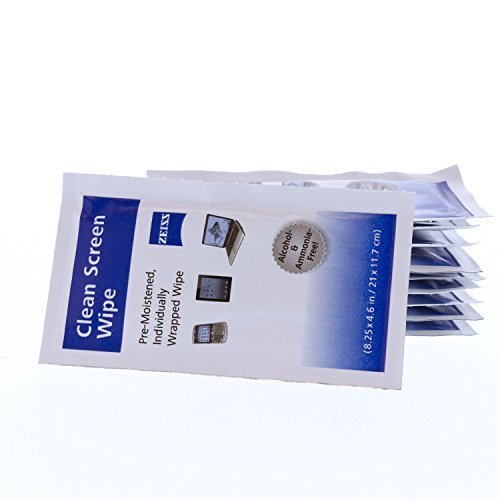 Zeiss Alcohol Free Pre-Moistened Lens Cleaning Wipes - Cleans Bacteria, Germs and without Streaks for Eyeglasses, Sunglasses, and computer screens - (200 Count) by - Stores Online Eyeglass