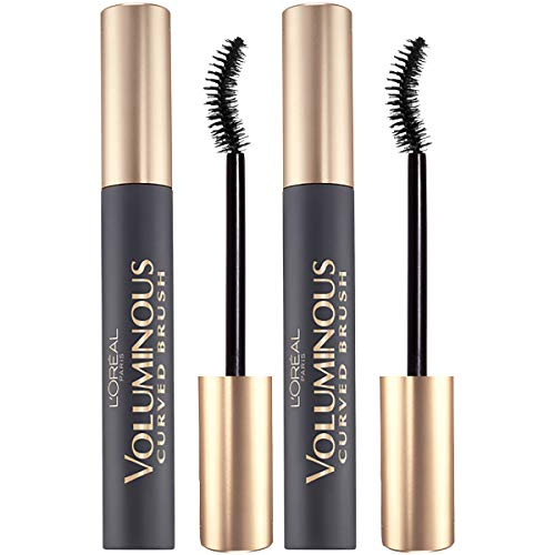 L'Oreal Paris Makeup Voluminous Original Volume Building Curved Brush Mascara, Black, 2 Count