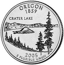 2005 P Oregon State Quarter Choice Uncirculated