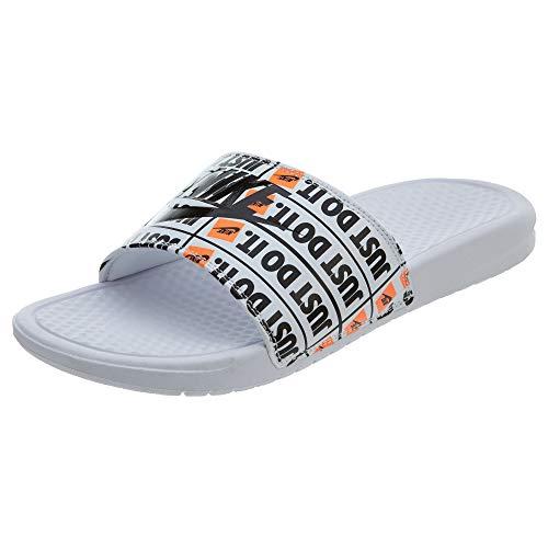 NIKE Herren Benassi JDI Print Sneakers, Weiß (White/Black 001)