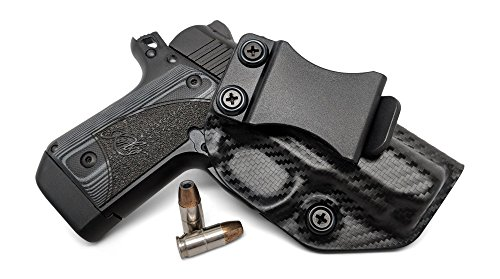 Concealment Express IWB KYDEX Gun Holster: fits Kimber Micro 9 - Custom Molded Fit - US Made - Inside Waistband Concealed Carry Holster - Adj. Cant & Retention