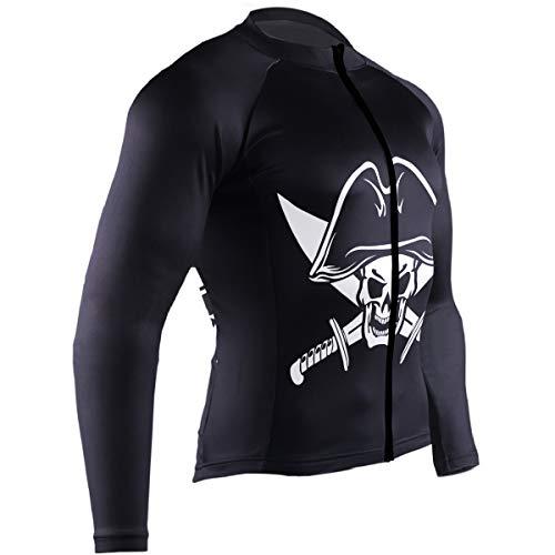 - Mens Cycling Jersey Black Pirate Flag Biking Bicycle Jersey Shirt