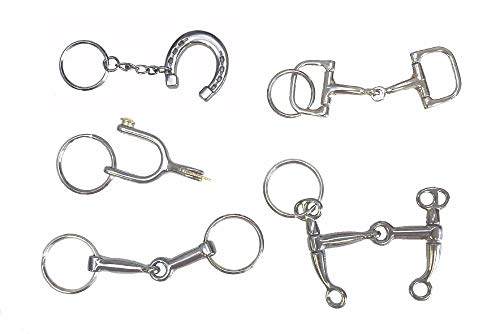 Equine Gift Key Chains Cowboy Spurs Bits Horse Shoe Western Novelty Lot of Five from AJ Tack Wholesale