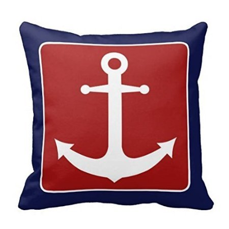 Red-White-and-Blue-Nautical-Anchor-Square-Decorative-Throw-Pillow-Cover-Cushion-Case-16-16