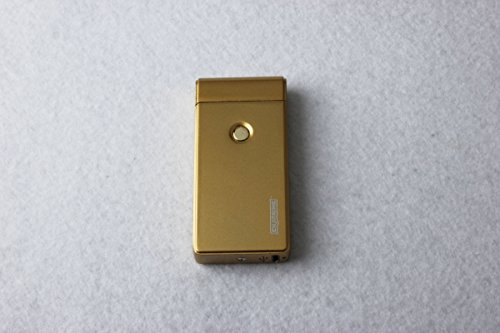 Best Double Arc USB Gold Electric Rechargeable Arc Lighter, Enji Prime, spark At The Push Of a Button, Flameless, Windproof, Eco Friendly & Energy Saving (Turbo Arc)