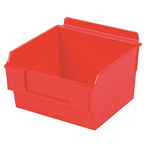 Retail Red Shelfbox Style 100 measures 5.70''d x 5.51''w x 3.74''h by Shelfbox