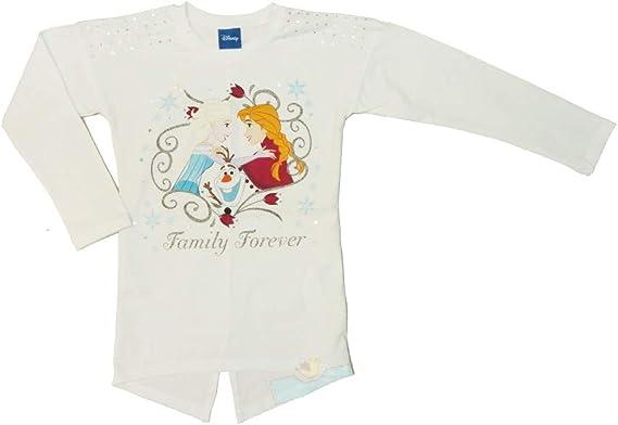 Camiseta de Manga Larga para niña de Frozen de algodón, 104 110 ...