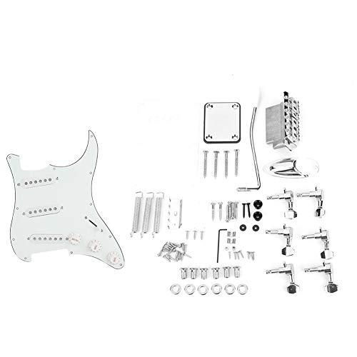 DIY Guitar Kits,1 Set DIY Electric Guitar Kits Pickguard Back Cover Bridge System for ST Style Guitars.