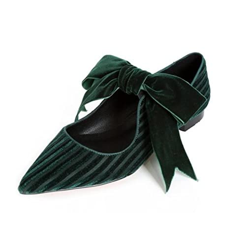 MUYII Bow Tie Flat Shoes Chaussures Pompes Pointues Mocassins Chaussures