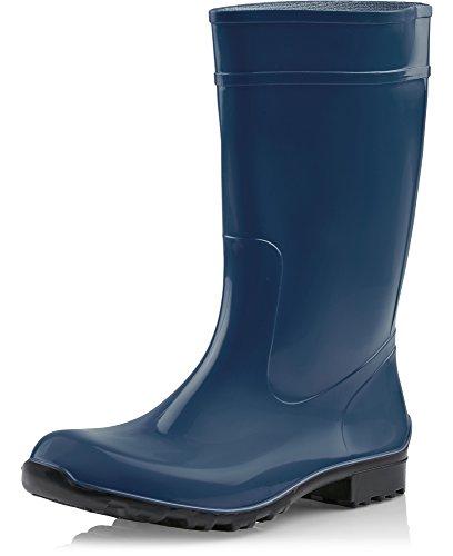 de Negro Oscuro de LA 967 Agua Seguridad Ladeheid Botas Zapatos Mujer Antideslizantes Azul qpSwc7xg5