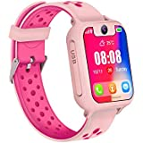 Kid Smart Watch, Smiler+ Waterproof Kids Smart Watch GPS Accurate Tracker with SOS Call Camera for Kid Boys Girls Children (Pink)