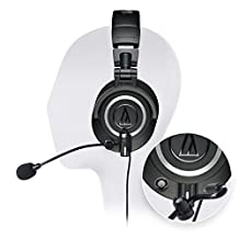 Audio Technica ATH-M50X Professional Studio Headphone -INCLUDES- Antlion Audio ModMic 5 Modular Attachable Boom Microphone + Blucoil Y Splitter
