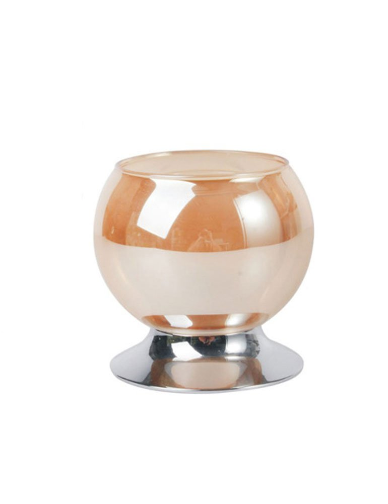 iecool Crystal Glass Romantic Home Wedding Dinner Decor Candle Holder White D95H137mm