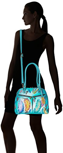 Anuschka Hand Painted Zip Around Organizer Satchel Floating Feathers, Fft-Floating Feathers by ANUSCHKA (Image #6)
