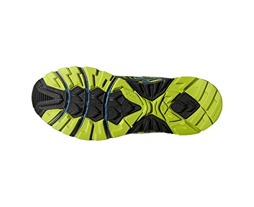 Asics Gel Fujitrabuco - Zapatillas de running para hombre, color Lime/L.Blue/Blk, talla 40 Lima / Azul / Negro