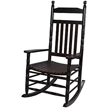 Gift Mark Deluxe Adult Rocking Extra Tall Back Chair, Espresso