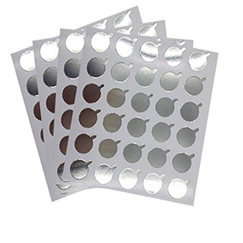 MISMXC 300Pcs Eyelash Extension Tool Aluminum Foil Glue Plate Pads Pallet Stickers 2.5 cm