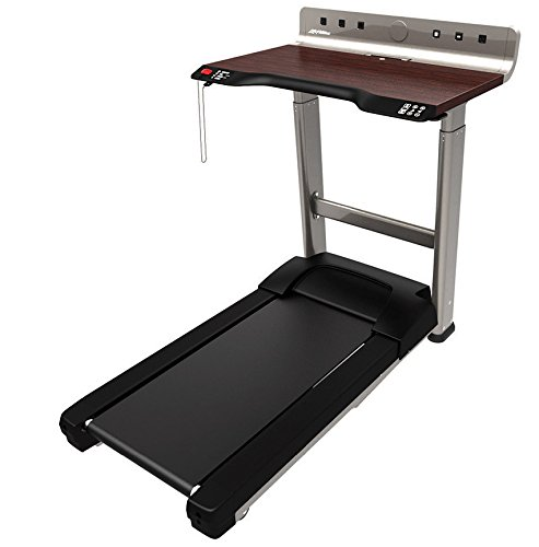 Life Fitness Treadmill Desk - Walking Workstation with Electric Height Adjustment - Workplace Walking Solution