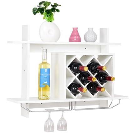Amazon Com Cypressshop Wine Rack Shelving Unit Wall Mounted With