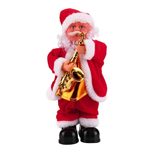 Christmas Santa Claus Toy, COOL99 Singing Electric for Kids Decorations Christmas Gifts(Blowing saxophone)