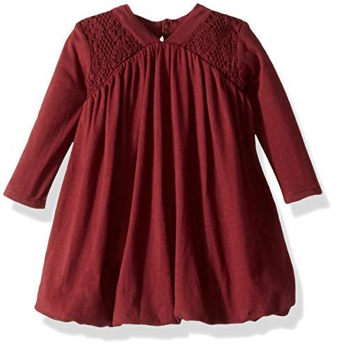 (Burt's Bees Baby Baby Girl's Dress, 100% Organic Cotton, Winter Berry Bubble, 24 Months)