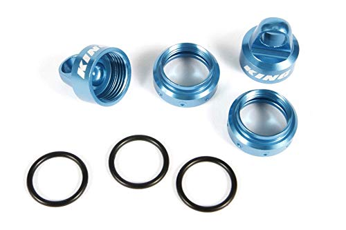 Axial King Shocks Aluminum Caps Collar Set 12mm Blue, AXIC3430