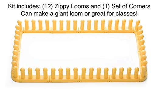 Authentic Knitting Board KB6012 Zippy Looms, Bulk connectable 13 Piece by Authentic Knitting Board (Image #1)