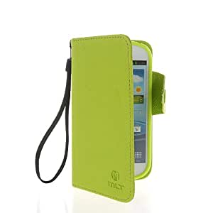 CASEPRADISE Slim Wallet Card Holder Pouch Flip Cover Leather Case For Samsung Galaxy Express I8730 Green