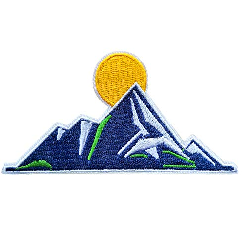 - DzIxY 1 PCS Sunrise Mountain Peak Embroidery Patches for T-Shirt Iron on Stripes Clothes Stickers Sewing Applications Hippie Badges @F-67